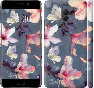 Чехол на Meizu M6 Note Нарисованные цветы