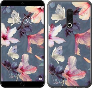 Чехол на Meizu 15 Нарисованные цветы