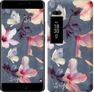 Чехол на Meizu Pro 7 Нарисованные цветы