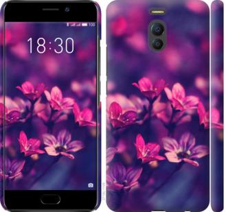 Чехол на Meizu M6 Note Пурпурные цветы