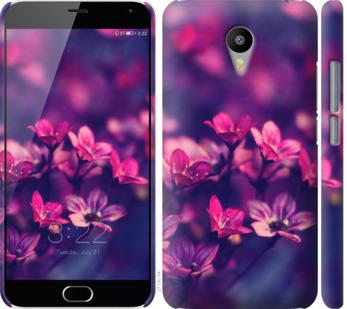 Чехол на Meizu M2 Note Пурпурные цветы