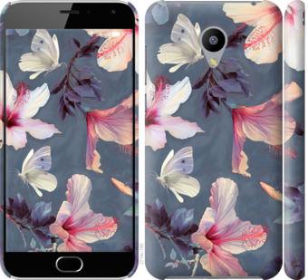 Чехол на Meizu M2 Нарисованные цветы