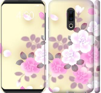 Чехол на Meizu 16th Японские цветы