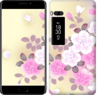 Чехол на Meizu Pro 7 Plus Японские цветы