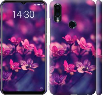 Чехол на Meizu Note 9 Пурпурные цветы