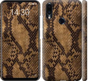 Чехол на Meizu Note 9 Змеиная кожа