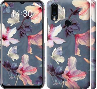 Чехол на Meizu Note 9 Нарисованные цветы