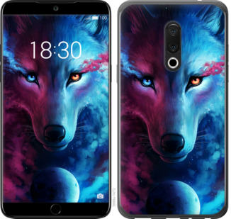 Чехол на Meizu 15 Арт-волк