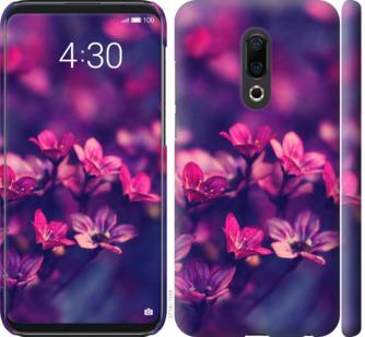Чехол на Meizu 16th Пурпурные цветы