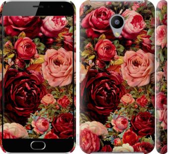 Чехол на Meizu M2 Цветущие розы