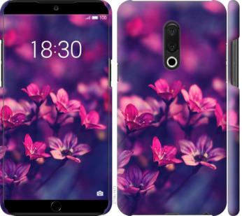 Чехол на Meizu 15 Plus Пурпурные цветы