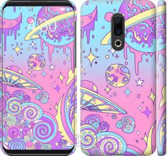 Чехол на Meizu 16th Розовая галактика