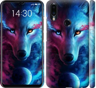 Чехол на Meizu Note 9 Арт-волк