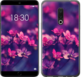 Чехол на Meizu 15 Пурпурные цветы