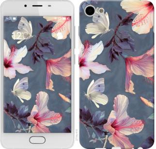 Чехол на Meizu U10 Нарисованные цветы