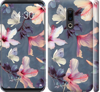Чехол на Meizu 16th Нарисованные цветы