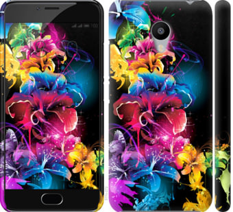 Чехол на Meizu M3s Абстрактные цветы
