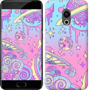 Чехол на Meizu Pro 6 Розовая галактика