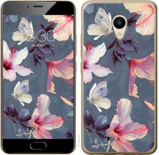 Чехол на Meizu M5 Нарисованные цветы