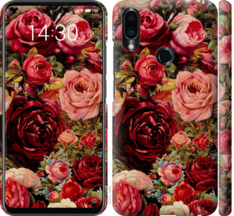 Чехол на Meizu Note 9 Цветущие розы