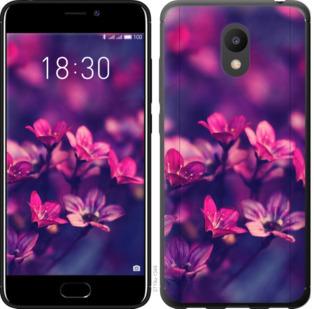 Чехол на Meizu M6 Пурпурные цветы