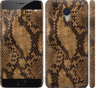 Чехол на Meizu M3 Note Змеиная кожа