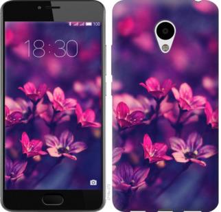 Чехол на Meizu M3s Пурпурные цветы