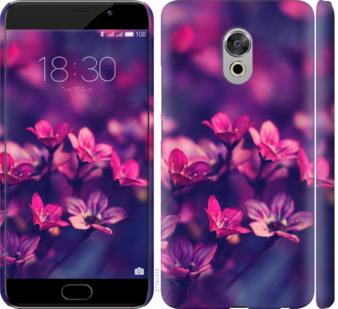 Чехол на Meizu Pro 6 Plus Пурпурные цветы