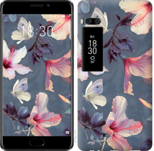 Чехол на Meizu Pro 7 Plus Нарисованные цветы