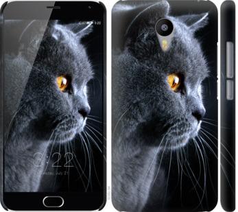Чехол на Meizu M2 Note Красивый кот