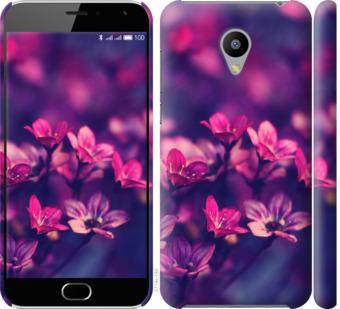 Чехол на Meizu M2 Пурпурные цветы