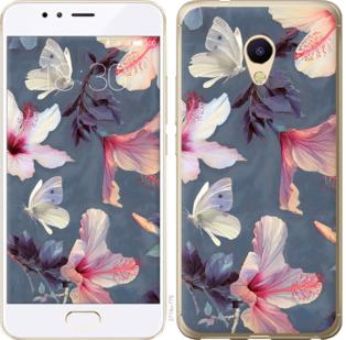Чехол на Meizu M5s Нарисованные цветы