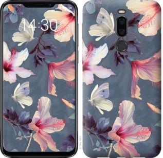 Чехол на Meizu X8 Нарисованные цветы