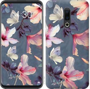 Чехол на Meizu 16 Plus Нарисованные цветы