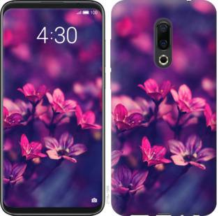 Чехол на Meizu 16 Plus Пурпурные цветы