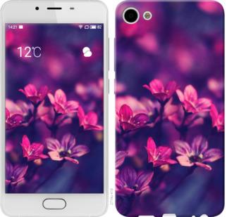 Чехол на Meizu U10 Пурпурные цветы