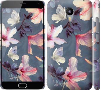 Чехол на Meizu M2 Note Нарисованные цветы