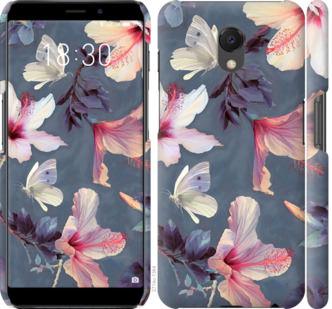 Чехол на Meizu M6s Нарисованные цветы