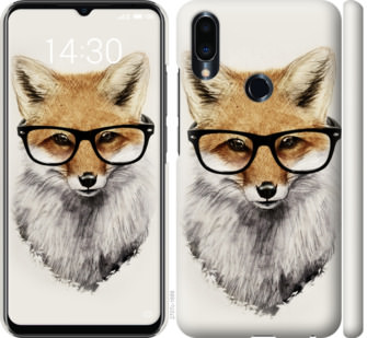 Чехол на Meizu Note 9 Лис в очках