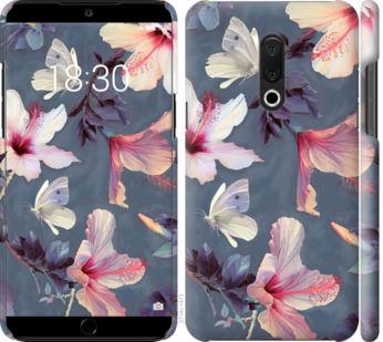 Чехол на Meizu 15 Plus Нарисованные цветы