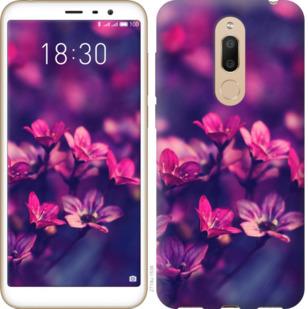 Чехол на Meizu M6T Пурпурные цветы