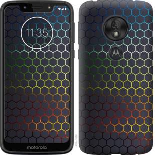 Чехол на Motorola Moto G7 Play Переливающиеся соты
