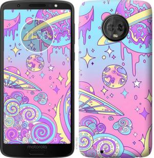 Чехол на Motorola Moto G6 Розовая галактика