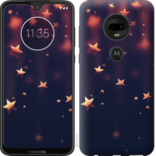 Чехол на Motorola Moto G7 Падающие звезды
