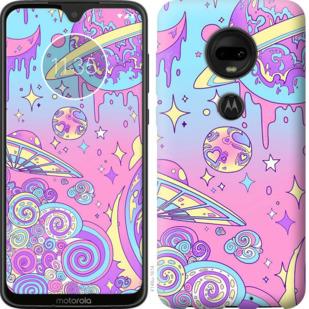 Чехол на Motorola Moto G7 Розовая галактика