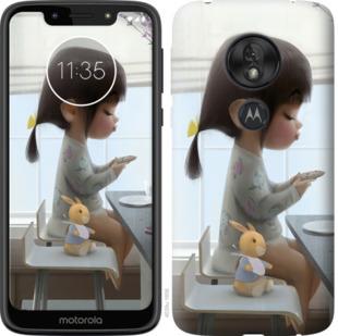 Чехол на Motorola Moto G7 Play Милая девочка с зайчиком