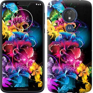 Чехол на Motorola Moto G7 Power Абстрактные цветы