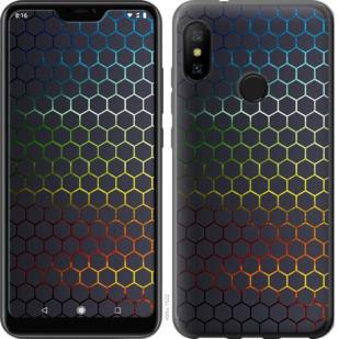 Чехол на Motorola One Переливающиеся соты