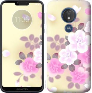 Чехол на Motorola Moto G7 Power Японские цветы