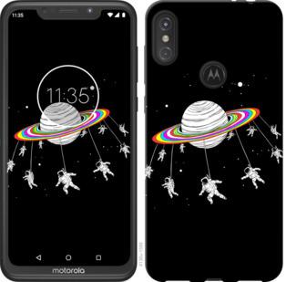 Чехол на Motorola One Power Лунная карусель